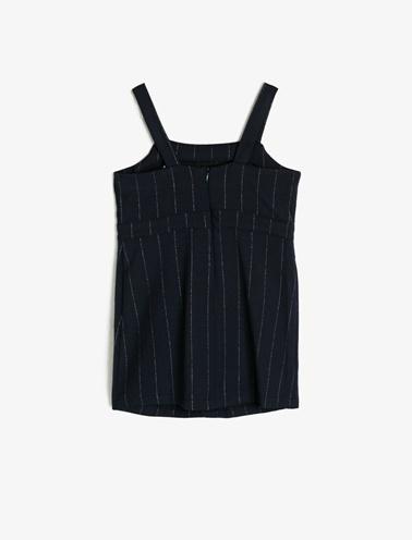 Koton Kids Cep Detaylı Elbise Lacivert